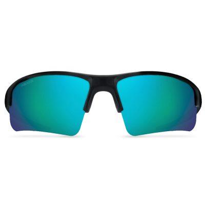 Abaco Polarized Sunglasses - Forty Four (44) - Matte Black/Ocean