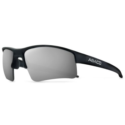 Abaco Polarized Sunglasses - Forty Four (44) - Matte Black/Silver Flash