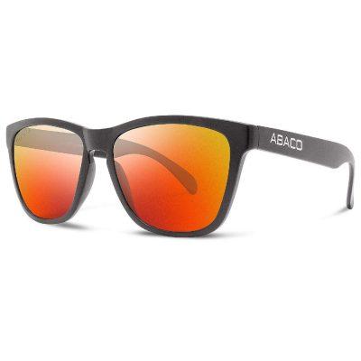 Abaco Polarized Sunglasses - Kai - Matte Black/Fire